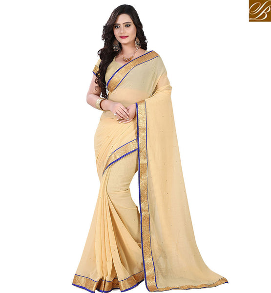 STYLISH BAZAAR  DELIGHTFUL PEACH PARTY WEAR SARI BLOUSE ONLINE VDPCK10080