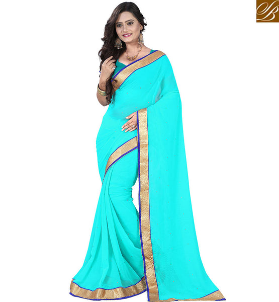 STYLISH BAZAAR FASCINATING SINGLE COLOR ONLINE SARI DESIGN VDPCK10085
