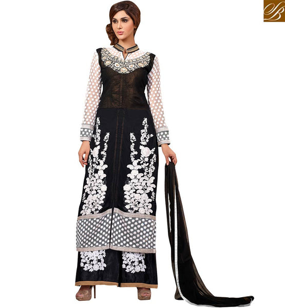 FROM THE HOUSE  OF STYLISH BAZAAR SPLENDID PARTY WEAR SALWAR SUIT DESIGN VDRNA1008