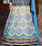 Kimora Fashions Surat Volume 10 Light Blue Wedding Anarkali Dress 1008 Stylishbazaar