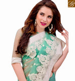 MARVELOUS PARTY WEAR SARI DESIGN VDMIZ1009 BY GREEN