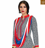 GLORIUOS-GREY-COTTON-TOP-WITH-CONTRAST-MAROON-SALWAR-AND-STYLISH-CHIFFON-DUPATTA-WODERFUL-PRINT-WORK-COMFORTABLE-ATTIRE-WITH-RESHAM-EMBROIDERY-ON-YOKE-AND-EYE-CATCHING-ODHNI