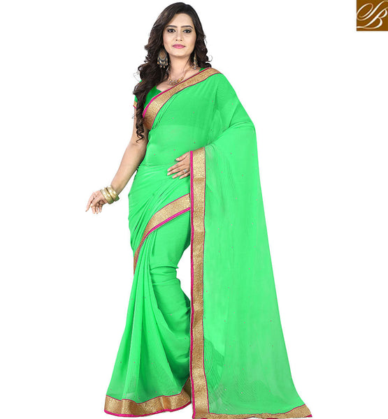 BROUGHT TO YOU BY STYLISH BAZAAR MAGNIFICENT SINGLE COLOR INDIAN SARI AND BLOUSE FOR WOMEN VDPCK10094