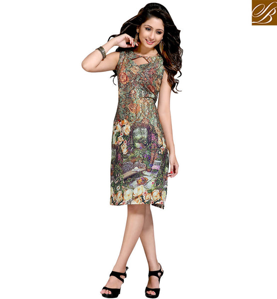 STYLISH BAZAAR FASHIONABLE SHORT STRAIGHT LINE KURTI DESIGN ONLINE VDMBL10095