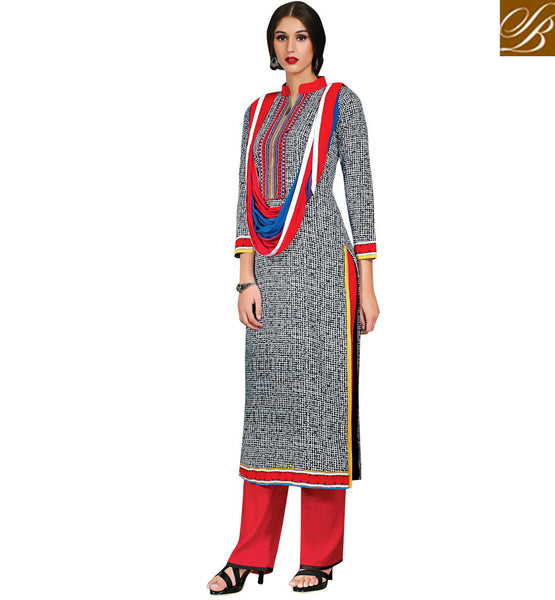 INDIAN-FROCKS-2015-BEAUTIFUL-DRESSES-SHALWAR-KAMEEZ-DESIGNER-SUITS-COLLECTION-GLORIUOS-GREY-COTTON-TOP-WITH-CONTRAST-MAROON-SALWAR-AND-STYLISH-CHIFFON-DUPATTA
