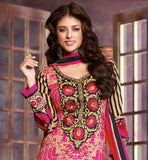 LOVELY PINK PARTY WEAR CAMBRIC COTTON SALWAR SUIT WITH DUPATTA