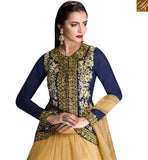IDEAL NAVY BLUE COLORED DESIGNER LEHENGA WITH FLORAL WORK SLGLZ101