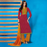 EVER STYLISH PUNJABI SUITS DRESS DESIGNS 2015 WITH PRINTED DUPATTA