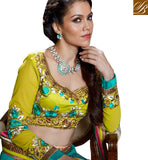 Lemon yellow choli wedding chaniya
