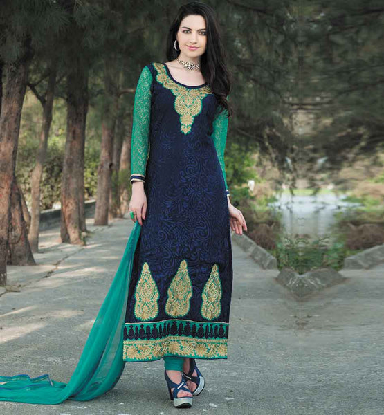 EVERSTYLISH STRAIGHT PATTERN BRASSO SALWAR KAMEEZ ONLINE SHOPPING