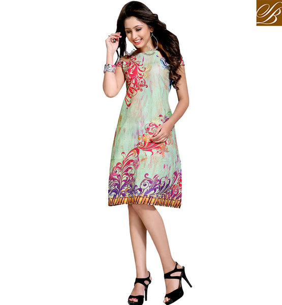 STYLISH BAZAAR GORGEOUS SLEEVELESS DESIGNER KURTI VDMBL10105