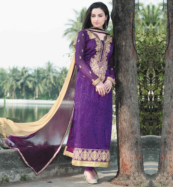 EVERSTYLISH SALWAR KAMEEZ WITH SHADED CHIFFON DUPATTA AT LOW PRICE