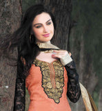 GLAMOROUS ORANGE SALWAR SUIT WITH EXCITING SHADED DUPATTA