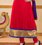 MAJESTIC MAROON AAMNA SHARIF GEORGETTE DRESS WITH CHIFFON DUPATTA