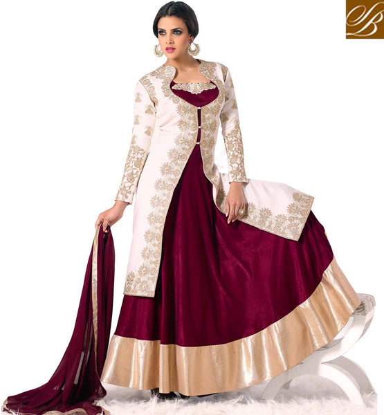 EVER STYLISH WEDDING SUITS 2015 DESIGNER DRESS WITH LONG JACKET