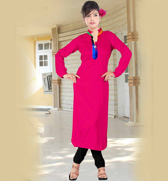 SIMPLE SOBER FULL SLEEVE MALAI COTTON LONG KURTI TO PAIR WITH JEANS