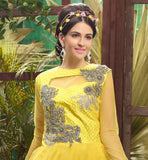 FIRST-RATE YELLOW MAXI FROCK, DESIGNER LOOKS AT EXCITING RATES