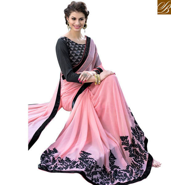 STYLISH BAZAAR WONDERFUL DESIGNER PARTY WEAR SAREE RTSHD1011