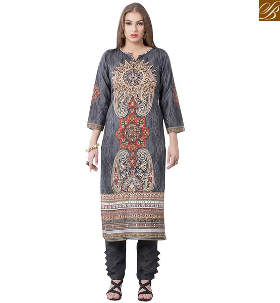 DELIGHTFULLY DESIGNED PARTY WEAR KURTI DESIGN RTEMP1011 BY STYLISH BAZAAR