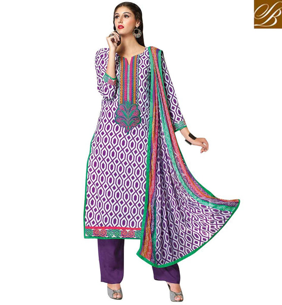 INDIAN-DRESS-LONG-LENGTH--SALWAR-KAMEEZ-DESIGNS--LATEST-PUNJABI-SUITS-FOR-GIRLS-PLEASING-PURPLE-AND-WHITE-COTTON-TOP-WITH-COZY-SALWAR-AND-CHIFFON-DUPATTA