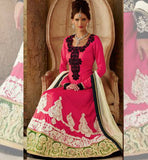 Kimora Fashions Surat Volume 10 Pink Black Jacket Wedding Anarkali Dress 1011 Stylishbazaar