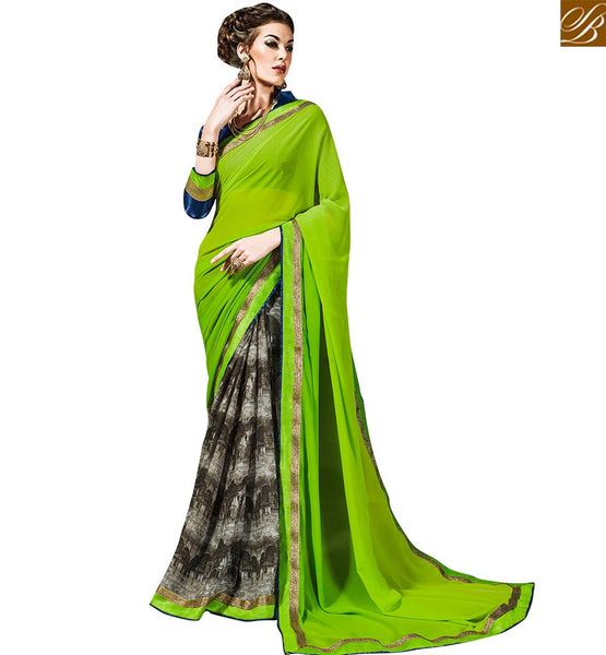 STYLISH BAZAAR APPEALING CASUAL WEAR SARI BLOUSE DESIGNS VDTIA10120