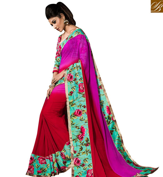 STYLISH BAZAAR ADMIRABLE MULTICOLOR DESIGNER SAREE DESIGN VDTIA10121
