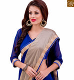 STYLISH BAZAAR PRESENTS CAPTIVATING BLUE DESIGNER SARI AND BLOUSE DESIGN VDMIZ1013