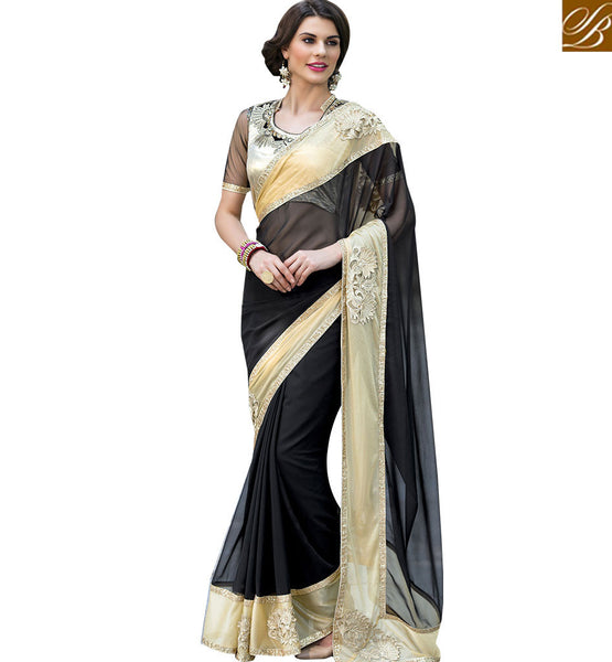 BROUGHT TO YOU BY STYLISH BAZAAR DAZZLING DESIGNER PARTY WEAR SAREE BLOUSE RTSHD1013