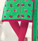 SMART COLOR COMBINATION AND FANCY DUPATTA MAKES THIS DRESS A WINNER EXCITING OFFICE WEAR SALWAR KAMEEZ PATTERNS