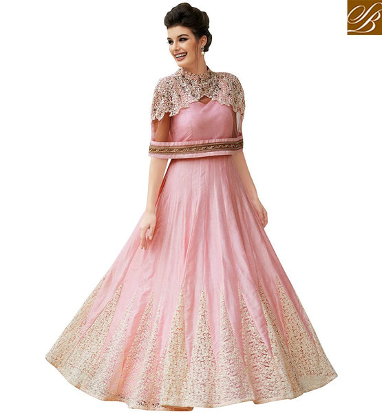 STYLISH BAZAAR WELL FORMED DESIGNER EVENING GOWN VDLAV10155