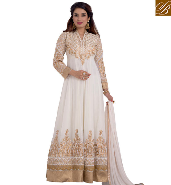 STYLISH BAZAAR STUNNING DESIGNER PARTY ANARKALI SUIT ONLINE VDRNB10158