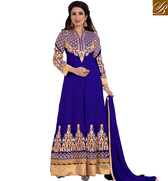 STYLISH BAZAAR RESPLENDENT DESIGNER ANARKALI SUIT DESIGN FOR PARTIES VDRNB10160