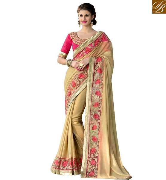 BROUGHT TO YOU BY STYLISH BAZAAR EXCEPTIONALLY DESIGNED PARTY SARI AND BLOUSE RTSHD1016