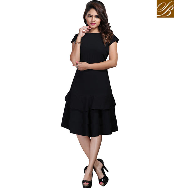 STYLISH BAZAAR TANTALIZING ONLINE FASHION INDIA BLACK KURTI VDSPL10171