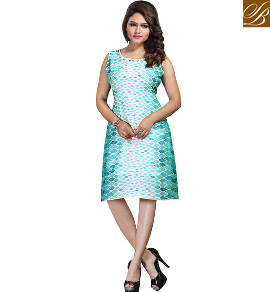 STYLISH BAZAAR TRENDY DESIGNER PRINTED PARTY WEAR KURTI DESIGN VDSPL10175