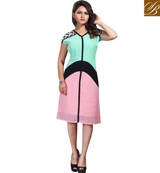STYLISH BAZAAR GLAMOROUS DESIGNER MULTICOLORED KURTI VDSPL10177