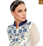 DELIGHTFUL ONLINE DESIGNER PARTY WEAR PLAZZO KAMEEZ SUIT DESIGN VDRUH10196