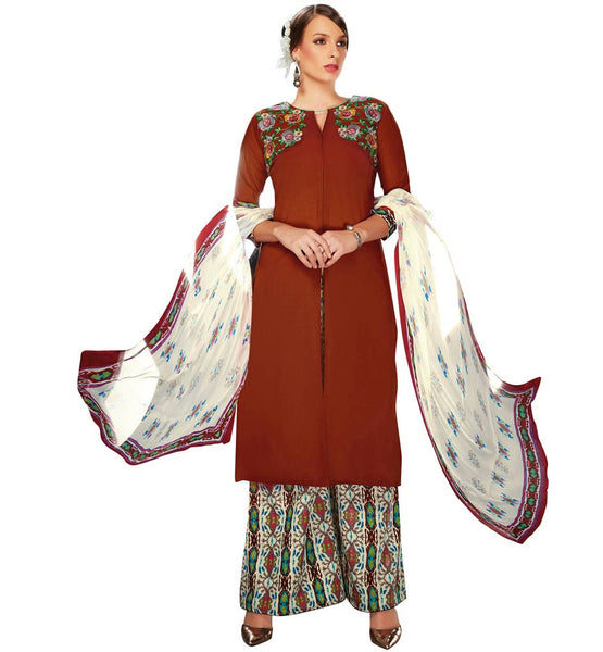 STYLISH BAZAAR ELEGANT PALAZZO PANTS SALWAR KAMEEZ DRESS VDRUH10197