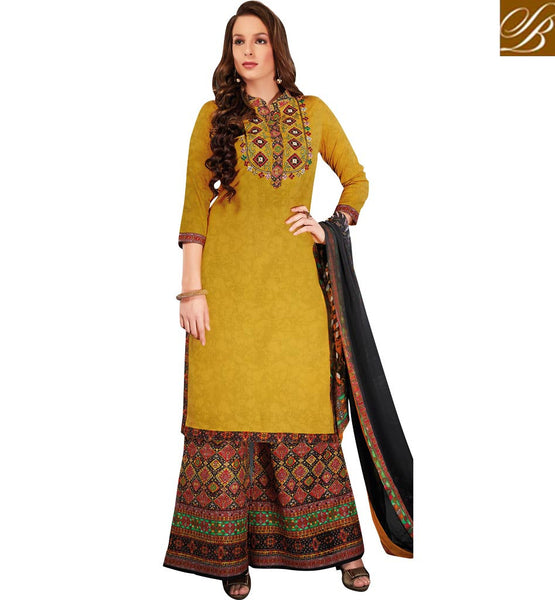 STYLISH BAZAAR SPECIALIZED HOT DESIGNER PALAZZO STYLE SALWAAR SUIT VDRUH10198