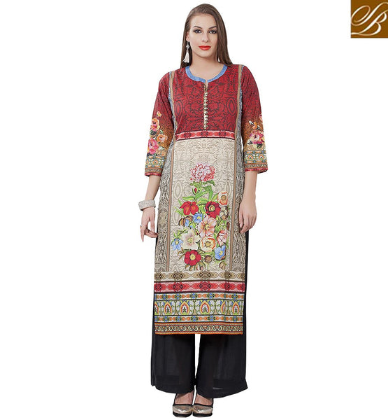 STYLISH BAZAAR MARVELOUS DESIGNER COTTON KURTI DESIGNS RTEMP1019