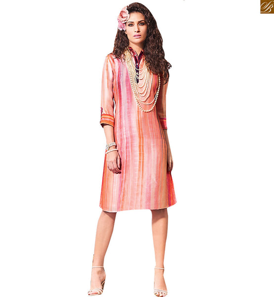 CASUAL DESIGNER MULTICOLORED SHORT KURTI RTVIN101 FROM STYLISH BAZAAR
