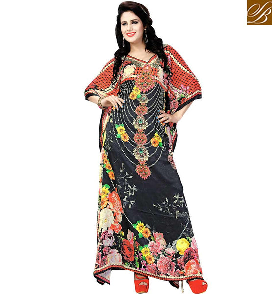 STYLISH BAZAAR PRESENTS ATTRACTIVE DIGITAL PRINTED KAFTAN DESIGN SKKF1009