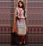 BUY PRINTED PARTY WEAR COTTON SALWAR KAMEEZ SUIT DESIGNS FOR WOMEN