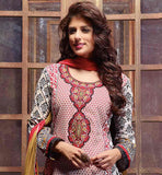 PEPPY PRINTED PARTY WEAR COTTON SALWAR KAMEEZ DRESS