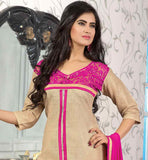 OUTSTANDING-CREAM-JUTE-COTTON-TOP-WITH-PINK-BOTTOM-AND-REMARKABLE-CHIFFON-DUPATTA-MAKE-HEADS-TURN-BY-GETTING-DRESSED-IN-THIS--ZARI,-RESHAM-EMBROIDERY-AND-LACE-BORDER-ENRICHED-SUIT