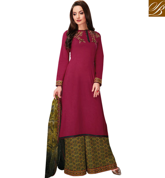 STYLISH BAZAAR GOOD-LOOKING PALAZZO WITH LONG SHIRT COLLECTION FOR WOMEN VDRUH10202