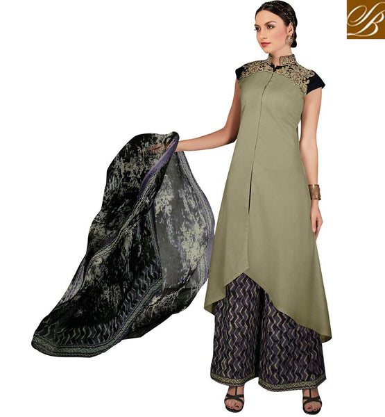 STYLISH BAZAAR LOVELY PALAZZO PANT SALWAR KAMEEZ DRESS SUIT DESIGN VDRUH10206