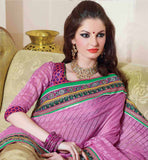 PINK & CREAM SAREE RTCHN1020 STYLISHBAZAAR WOMENS ONLINE SHOPPING WEBSITE
