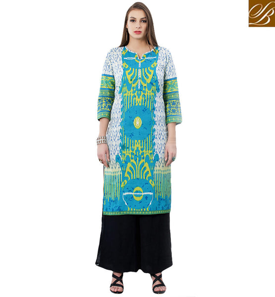 STYLISH BAZAAR PLEASING DESIGNER COTTON KURTI DESIGN RTEMP1022
